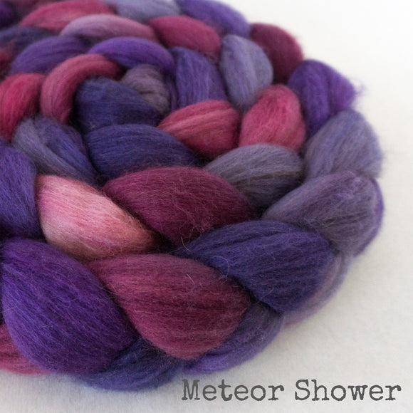 Merino Camel Silk Roving - Meteor Shower