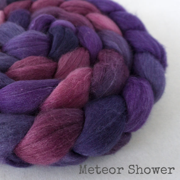 Merino Silk Cashmere Roving - Meteor Shower