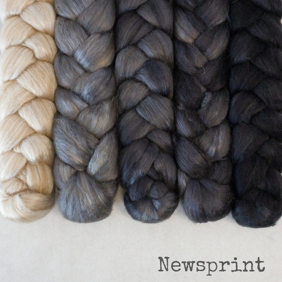 Camel Silk Roving - Newsprint - Bundle