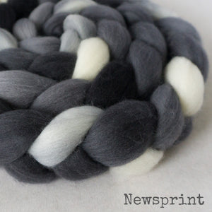 Merino Superfine Roving - Newsprint