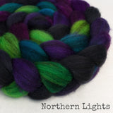 Heathered BFL Roving - Northern Lights