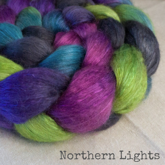 Camel Silk Roving - Northern Lights