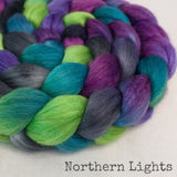 Merino Silk Cashmere Roving - Northern Lights