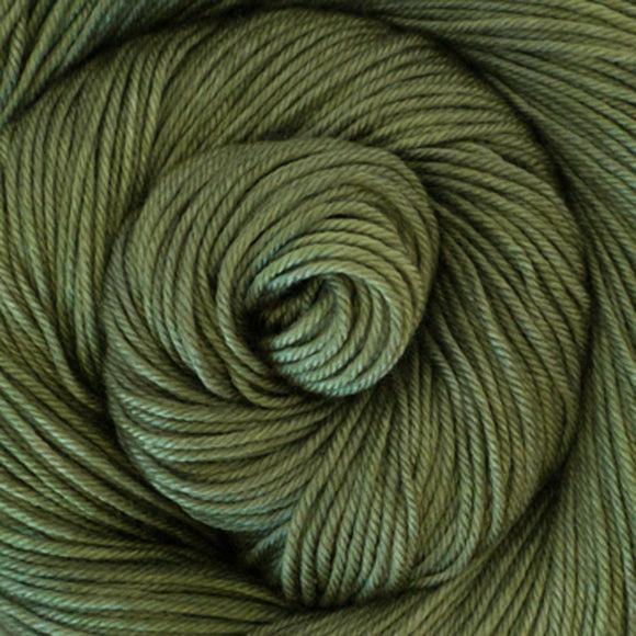 Silky Sheep Yarn - Olive Semi Solid