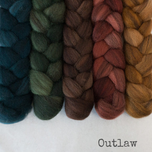 Heathered BFL Roving - Outlaw - Bundle