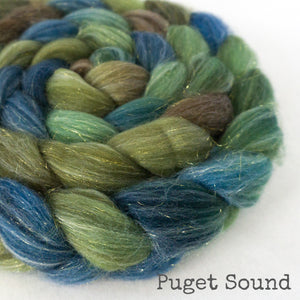 Glitter Roving - Puget Sound - Gold