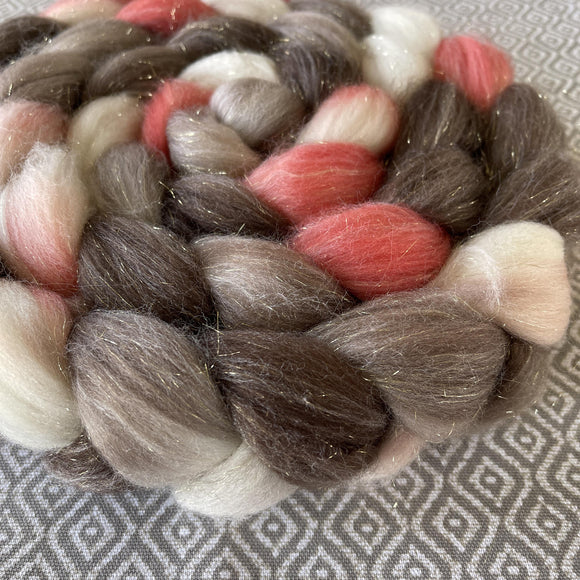 Glitter Roving - Retro Girl - Gold