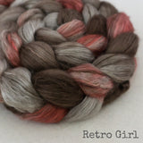 Yak Silk Roving - Retro Girl