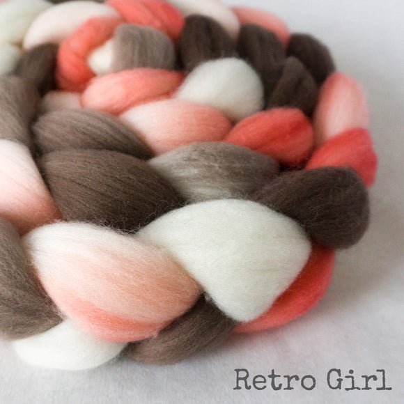 Merino Superfine Roving - Retro Girl