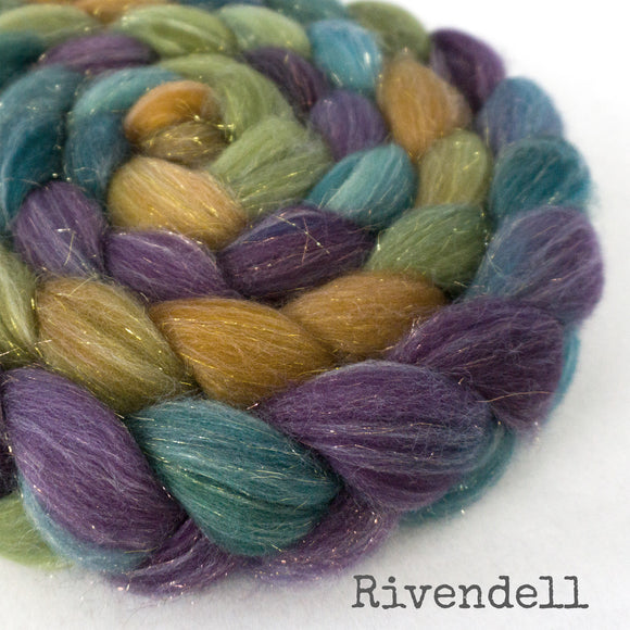 Glitter Roving - Rivendell - Gold