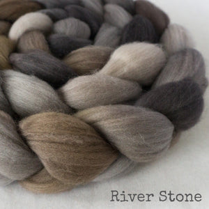 Merino Superfine Roving - River Stone