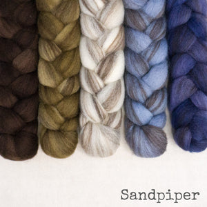 Heathered BFL Roving - Sandpiper - Bundle