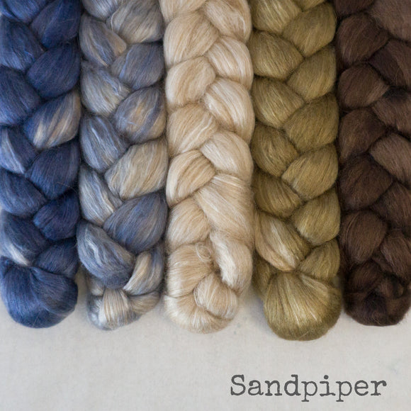 Camel Silk Roving - Sandpiper - Bundle