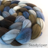 Heathered BFL Roving - Sandpiper