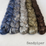 Yak Silk Roving - Sandpiper - Bundle