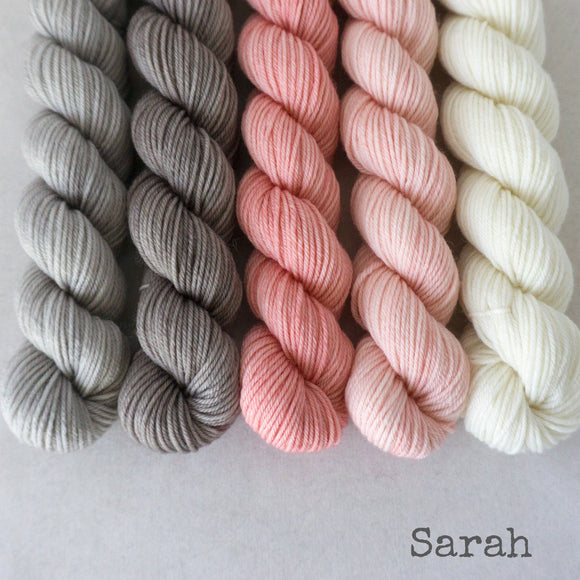 Simply Sock 5-Pack Mini Skeins in Sarah Semi Solid