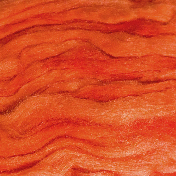 Firestar Roving - Shades of Tangerine