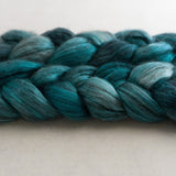 Yak Silk Roving - Shades of Turquoise