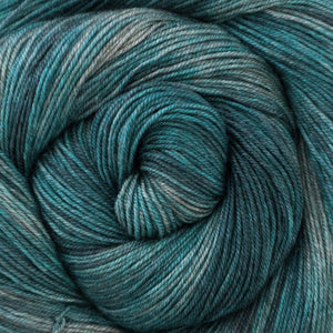 Yakity Yak Fingering Weight Yarn - Shades of Turquoise