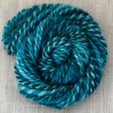 Glitter Roving - Shades of Turquoise - Silver