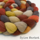 Polwarth Wool Roving - Spice Market