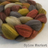 Heathered BFL Roving - Spice Market