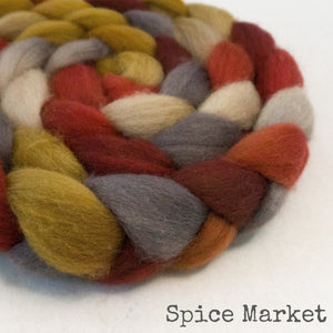 BFL Wool Roving - Spice Market