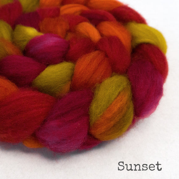 Sock Roving - Sunset
