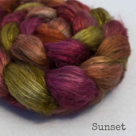 Yak Silk Roving - Sunset