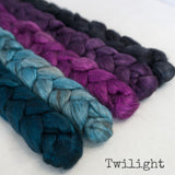 Yak Silk Roving - Twilight - Bundle