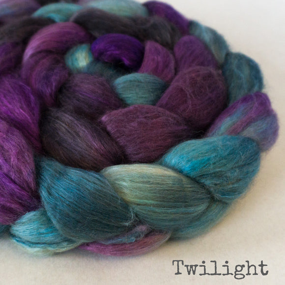 Camel Silk Roving - Twilight