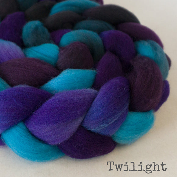 Targhee Wool Roving - Twilight