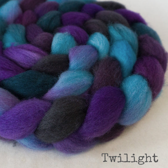 BFL Wool Roving - Twilight