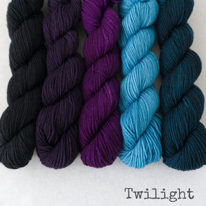 Simply Sock 5-Pack Mini Skeins in Twilight Semi Solid