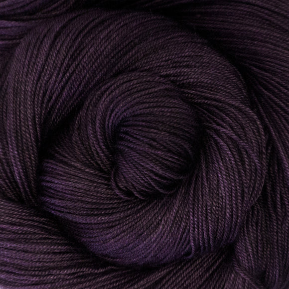 Yakity Yak Fingering Weight Yarn - Violet Semi Solid