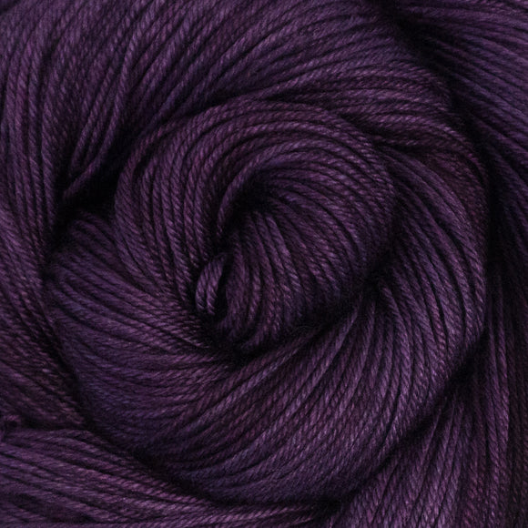 Silky Sheep Yarn - Violet Semi Solid