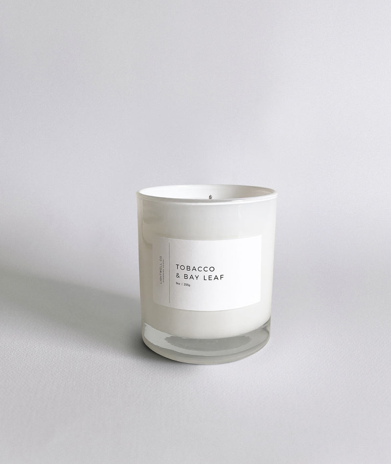 Tobacco & Bay Leaf White Tumbler