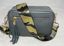 Camouflage print bag straps