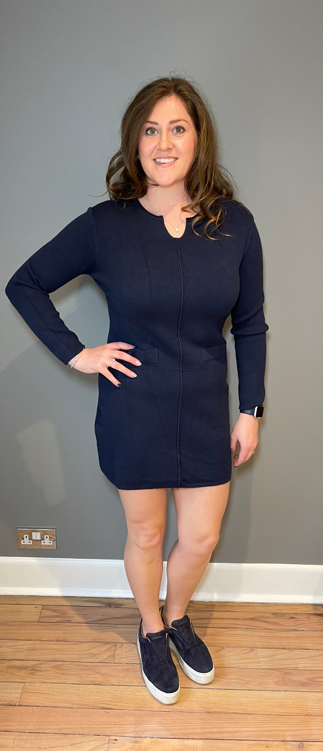Navy Thick tunic dress