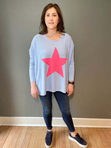 Oversized box style star jumper