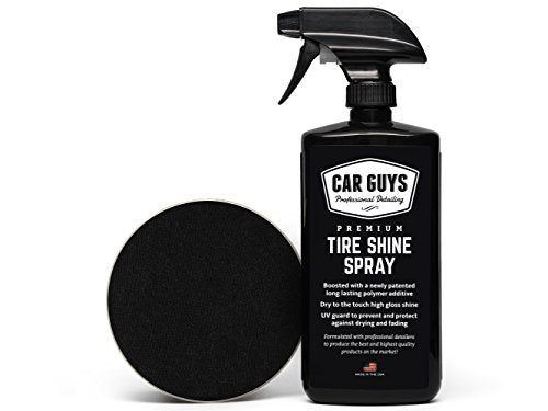 Amazon.com: Tire Shine Spray - Best Tire Dressing Car Care Kit for Car Tires After a Car Wash - Car Detailing Kit for Wheels and Tires with Included Tire Shine Applicator - by Car Guys Auto Detailing Supplies: Automotive