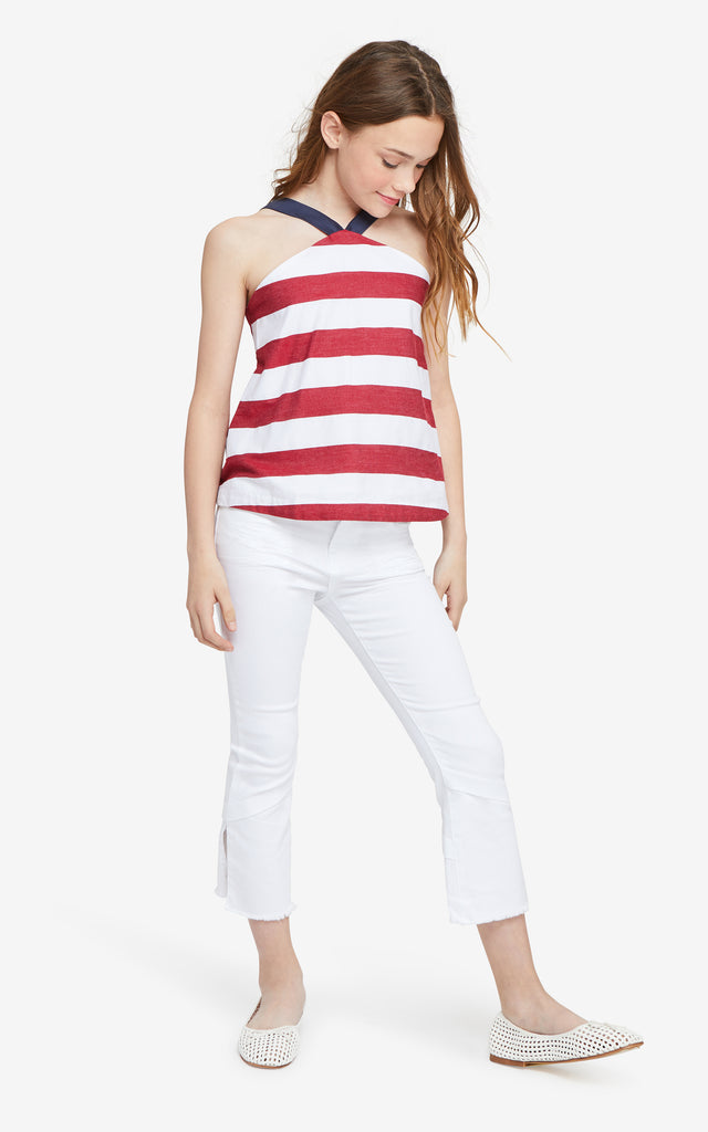 Harriet Stripe Baby Doll Top