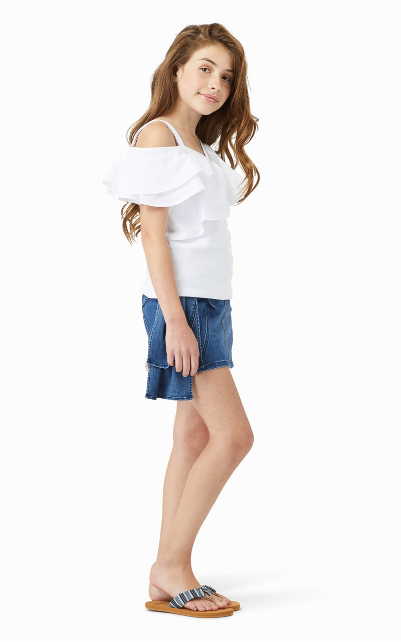 Clare Asymmetrical Top | 7-16 - Habitual