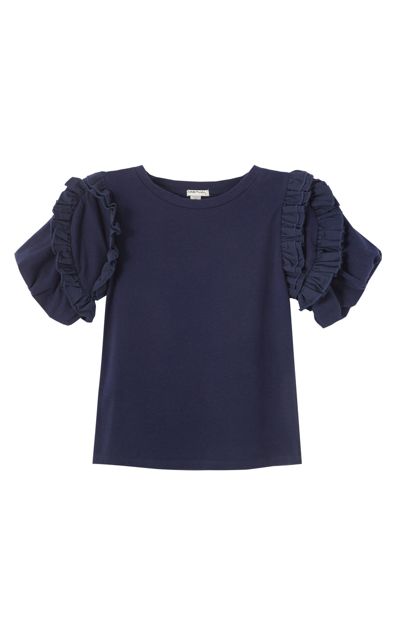 Delilah Pleated Trim Top  | 7-16