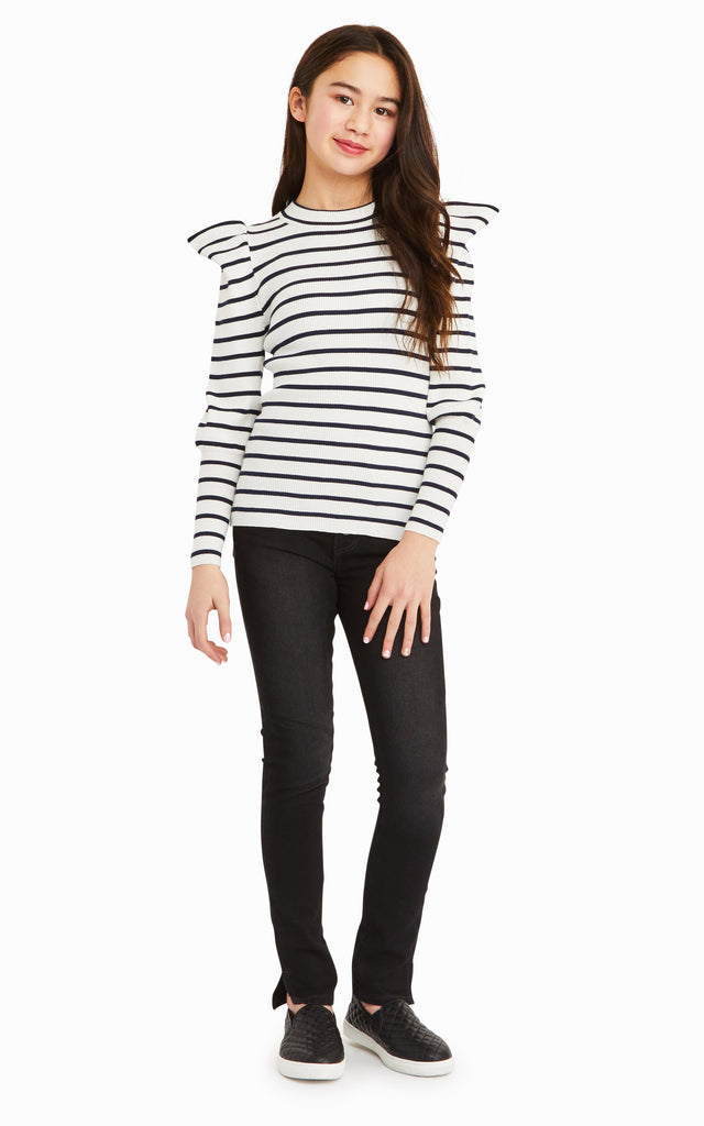 Eden Stripe Puff Sleeve Top
