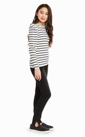 Eden Stripe Puff Sleeve Top - Habitual