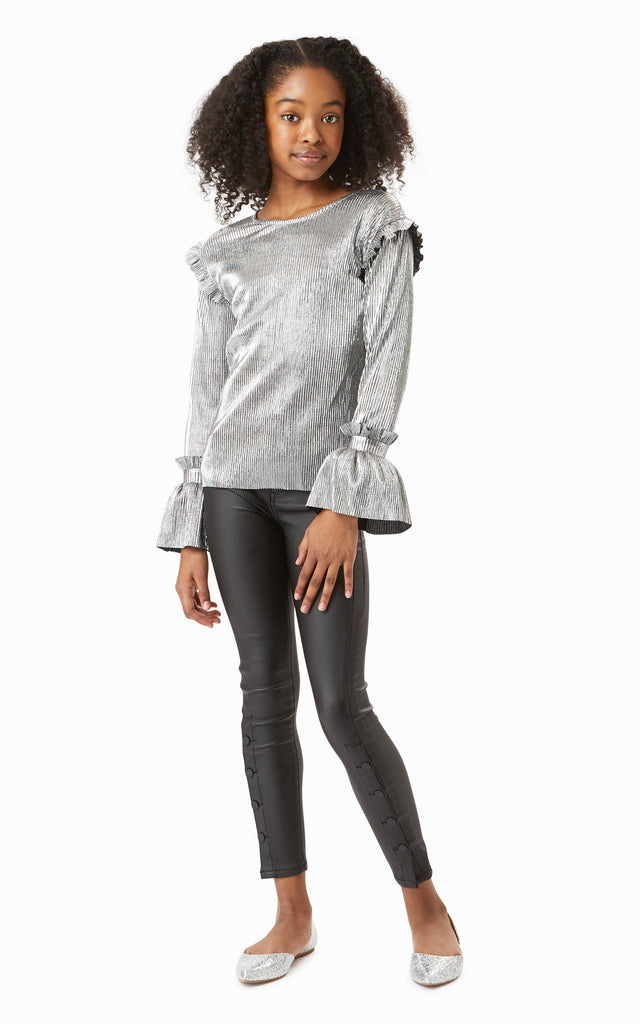 Nora Metallic Top