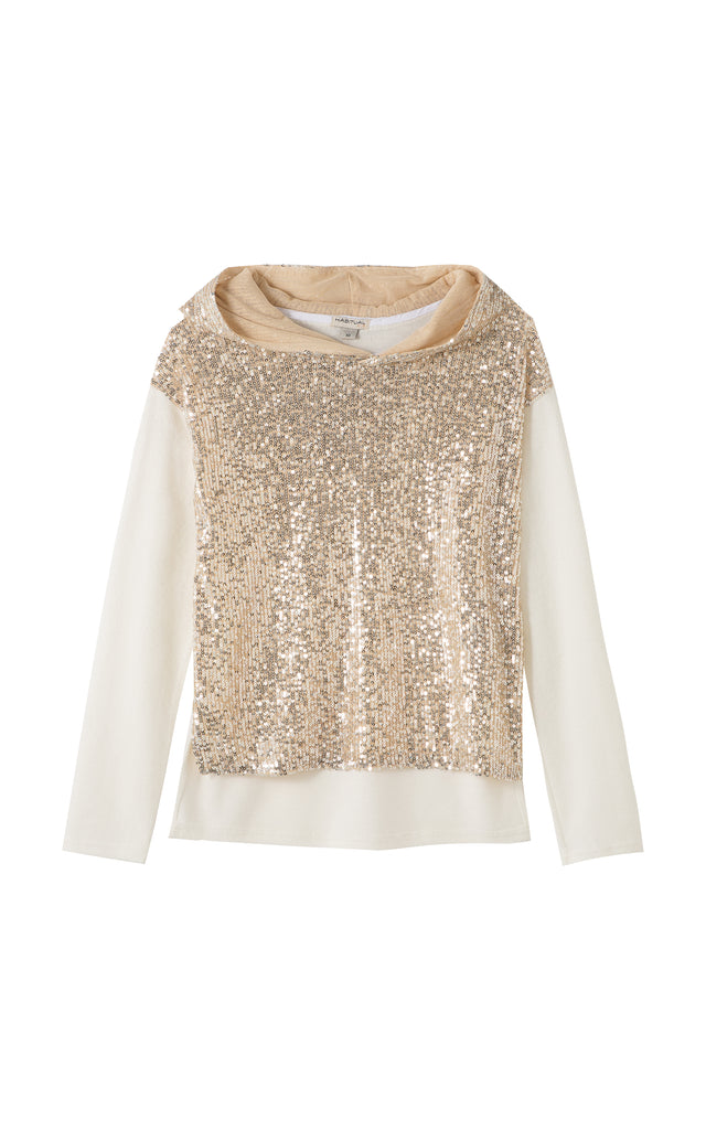 Brooke Sequins Pullover Sweater | 7-16