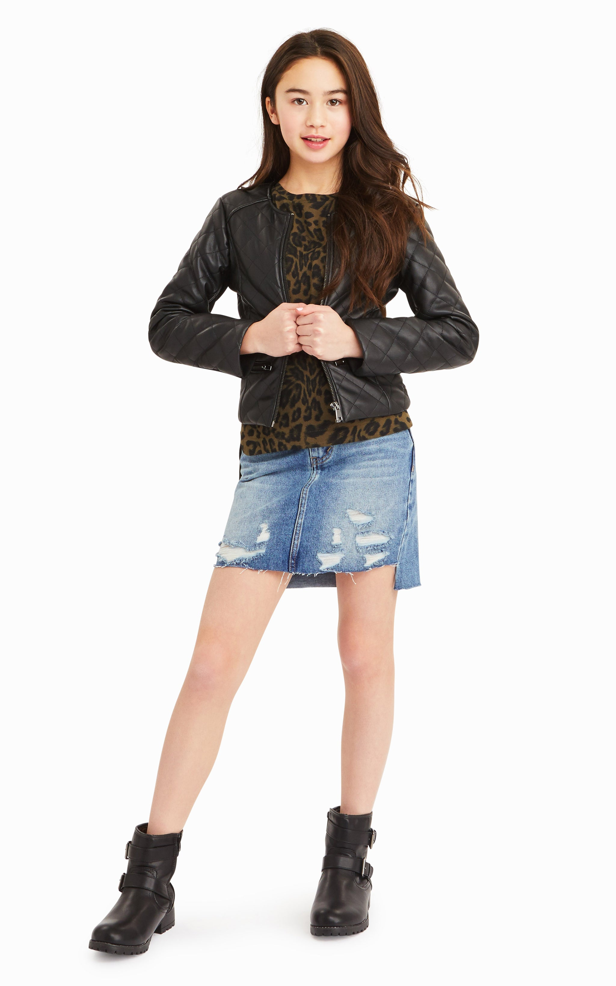 Jade Faux Leather Quilted Jacket - Habitual