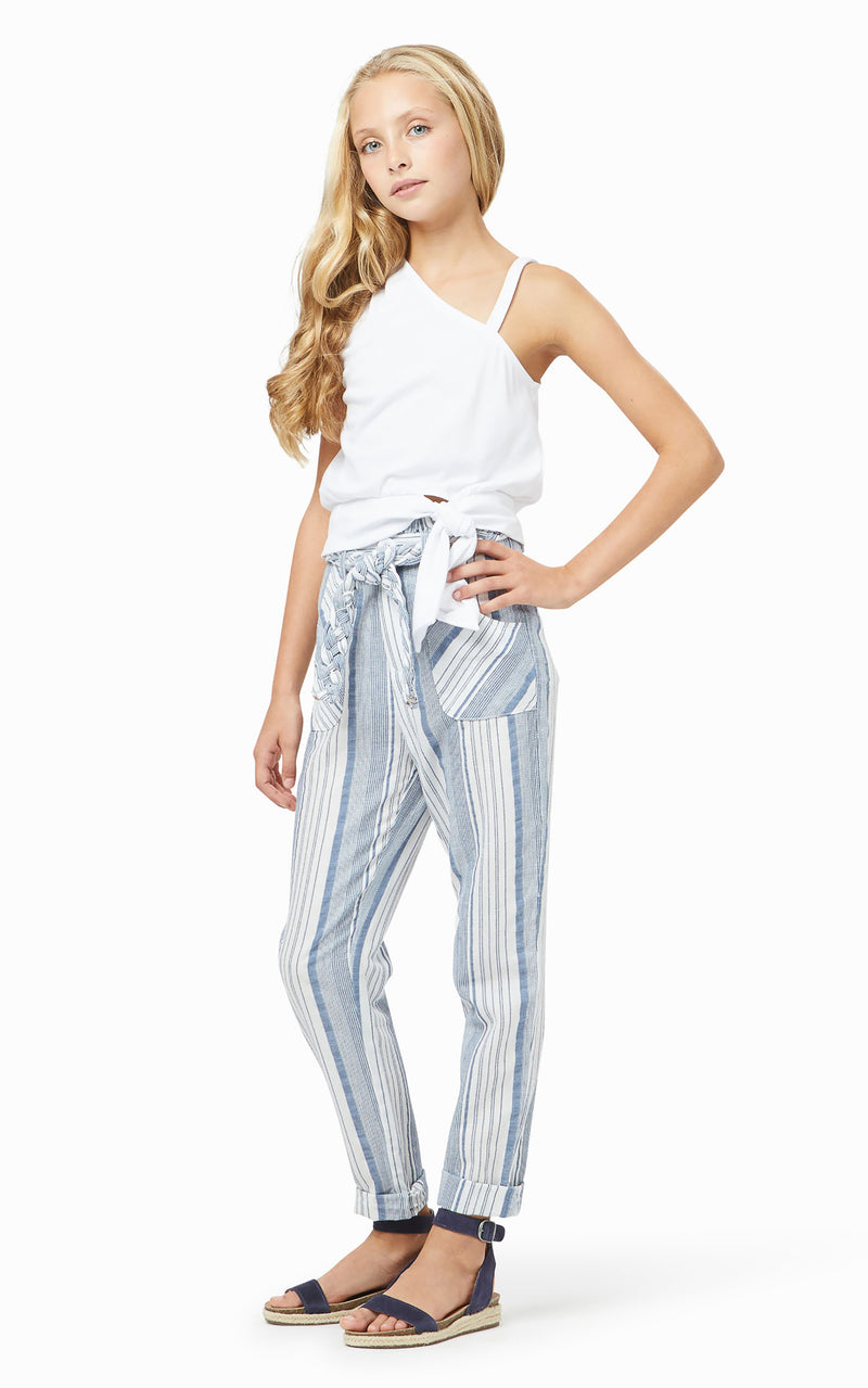 Paper Bag Stripe Pant | 7-16 - Habitual